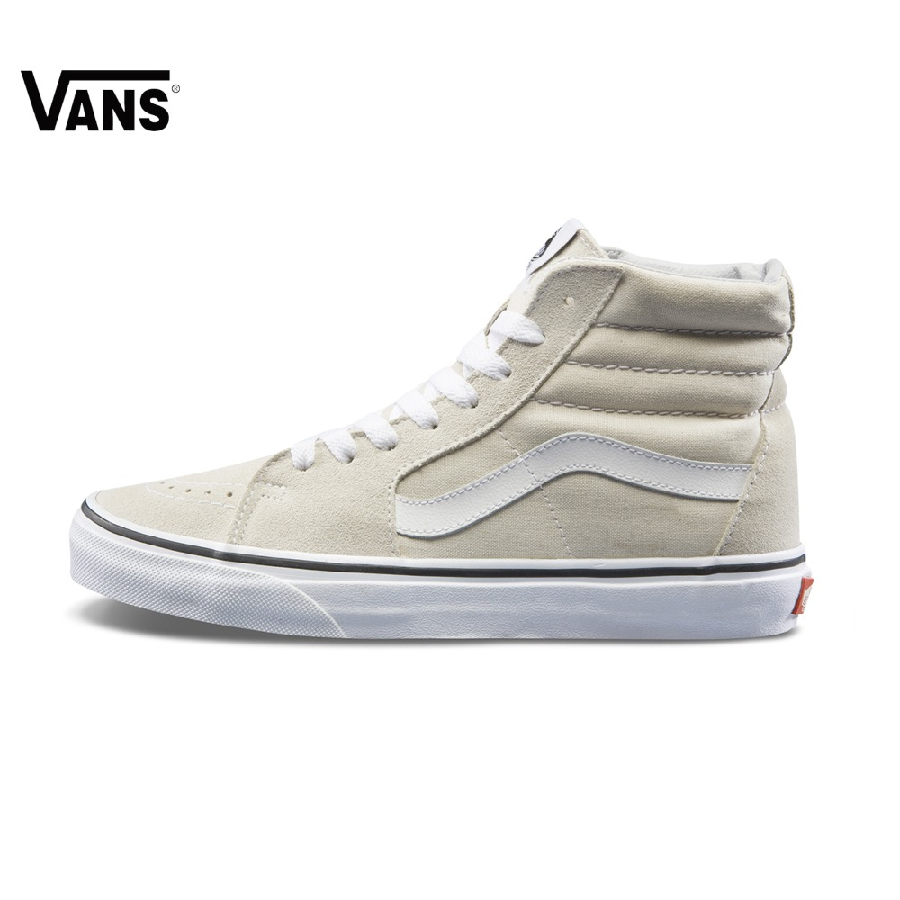 White Vans Sneakers High-top Trainers Women Sports Skateboarding Shoes Lace-up Breathable Classic Flat Canvas Vans Women Shoes dagnino women flat lace up breathable trainers casual walking shoes all match white canvas shoes print woman sneakers footwear