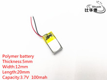 3.7V 100mAh 501220 Lithium Polymer LiPo Rechargeable Battery ion cells For Mp3 Mp4 Mp5 DIY PAD DVD E-book bluetooth headset