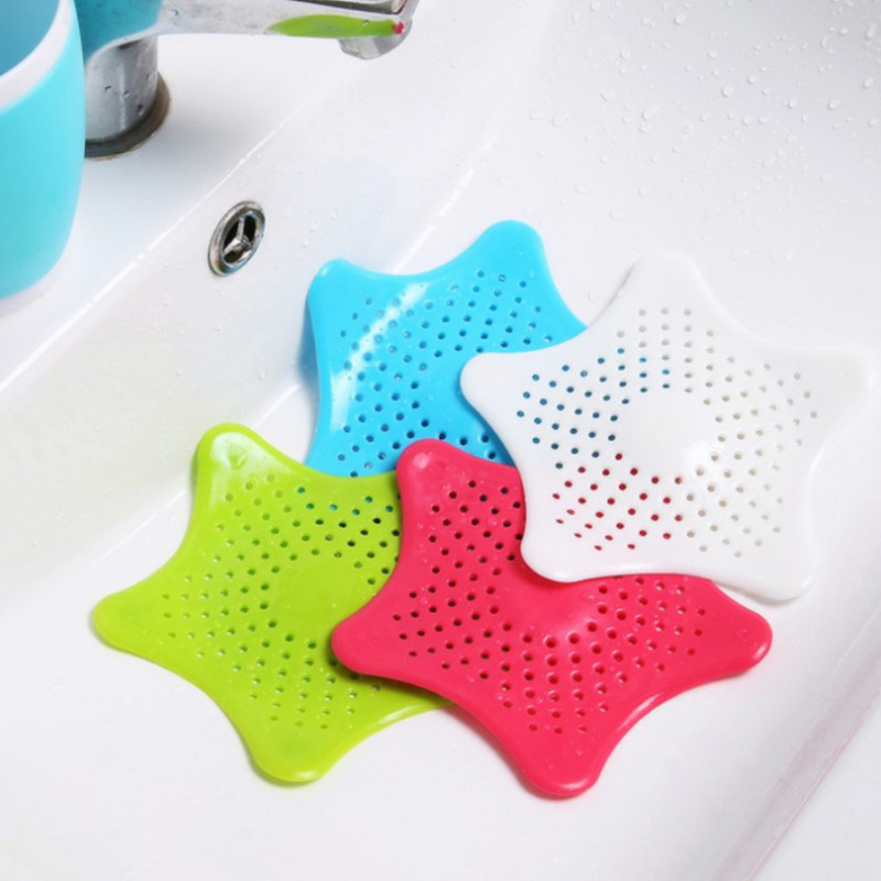 1pcs Sea Star Sewer Outfall Strainer Bathroom Sink Filter Anti