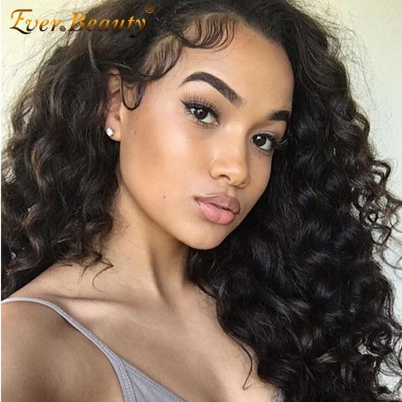 360 Lace Front Human Hair Wigs Brazilian Virgin Loose Wave