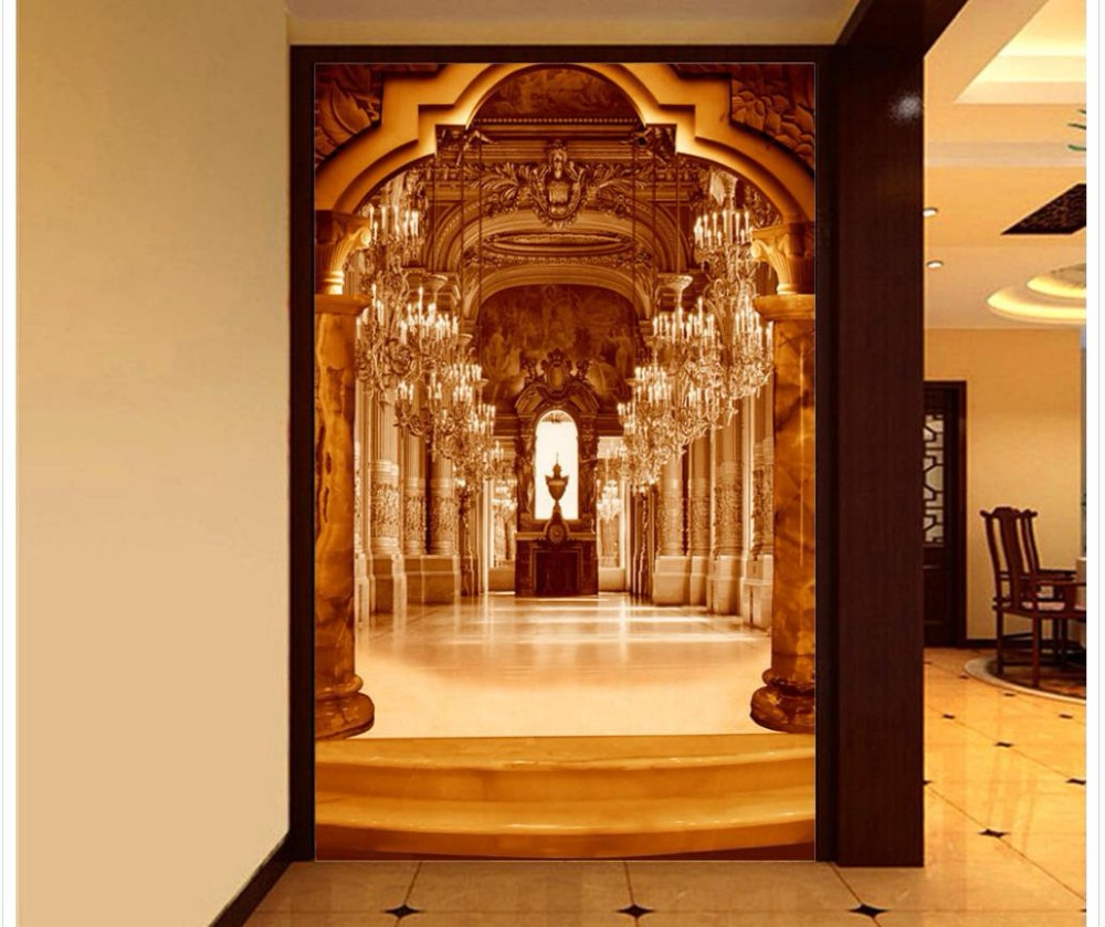 Custom Any Size Mural Wallpaper Wall Mural Wall Paper Painting Original Three-Dimensional Porch Background Wall