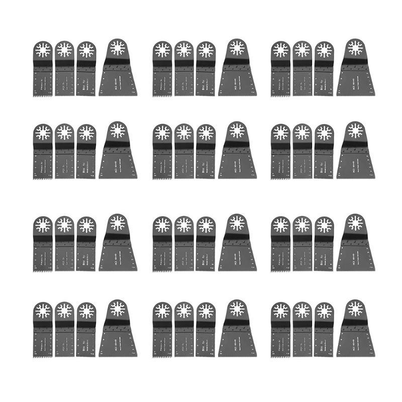 купить 48pcs HCS Oscillating Multi Tool Saw Blade for Fein Multimaster Dremel Bosch Carbide Blade Usefull Power Tools Sets по цене 3853.09 рублей
