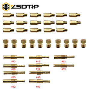 ZSDTRP 10pcs Motorcycle Carburetor Main Jet Kit Set Slow/Pilot Jet Main Injectors Nozzle For PWK PE Mikuni OKO Keihin KOSO Carb(China)