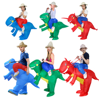 Free shipping Dinosaur Costume Inflatable Costumes For Adults Or Kids Party Dress Animal Cosply Halloween S/M/L
