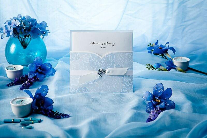 Для, открытки синий-белый