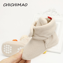 Cozie/зимние теплые ботинки унисекс из искусственного флиса для новорожденных и малышей; классическая обувь для мальчиков