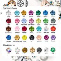 SW Diamante NO Hotfix CZ Strass 8Big 8 pequeño Strass SS10 ssss40 elementos DIY diamantes de imitación con parte posterior plana para decoración de uñas ropa