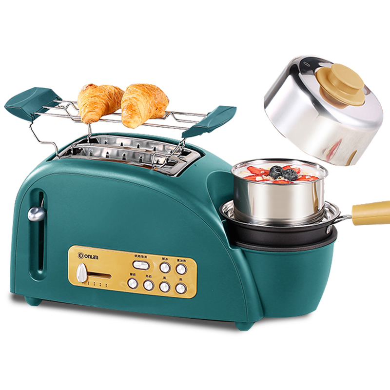 Home 2019 Fashion Multi-function Table Grill Machine Electric Baking Tray Breakfast Sandwich Machine With 2 Stainless Steel Bowls