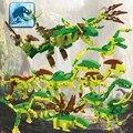Cogo mundo jurásico dinosaurio educativos bloques de construcción de juguetes para los niños regalos compatible con legoe