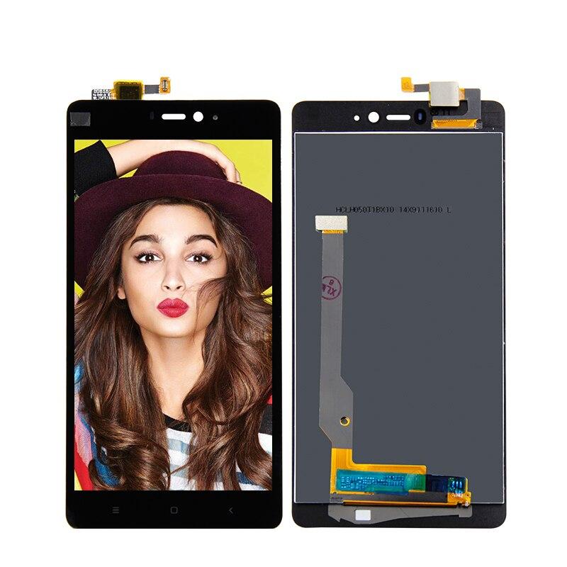 Per Xiaomi Mi4C Mi 4C Nero Display LCD con Touch Screen Glass Digitizer Assembly Strumenti Gratuiti di Ricambio