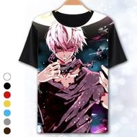 [XHTWCY] Shirt Men Women Hipster 3D t shirt Classic Anime Tokyo Ghoul t shirts White Hair Kaneki Print tshirts tees