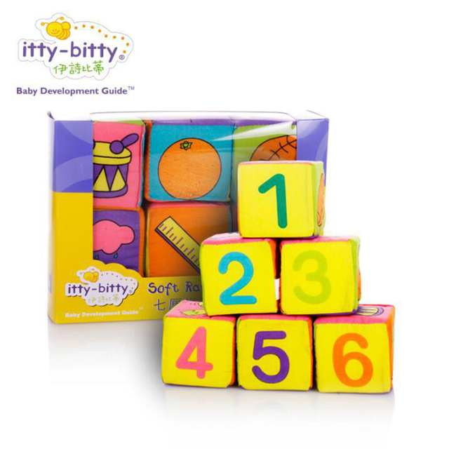 Multifunctional Baby Cloth Building Blocks Rattle Soft Play Cubes Early  Educational WJ413 Photo