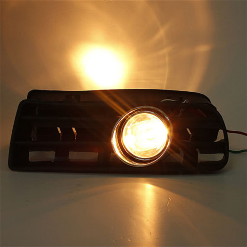 2pcs/set Car Front Bumper Grille LED Fog Lights Lamp Auto Cars Day Running Lights Grills with Angel Eyes Light for VW GOLF 4 free shipping bumper grille grill drl running driving led fog lamp lights for 97 06 vw golf mk4