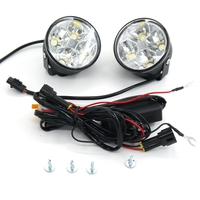 2pcs 9V 30V White 4LED 4W Car Auto Daytime Running Fog Light DRL LED Driving Lamp