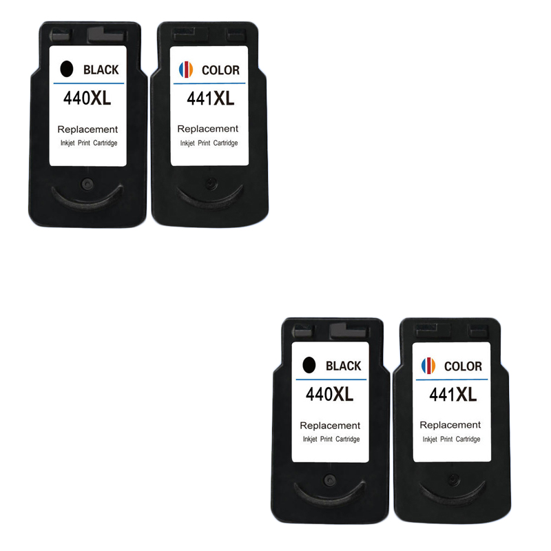 LuoCai Compatible Ink Cartridges For <font><b>Canon</b></font> PG <font><b>440</b></font> CL 441 PG-<font><b>440</b></font> PIXMA MG2180 MG3180 MG4180 MG4280 MX378 printers PG440 CL441 <font><b>XL</b></font> image