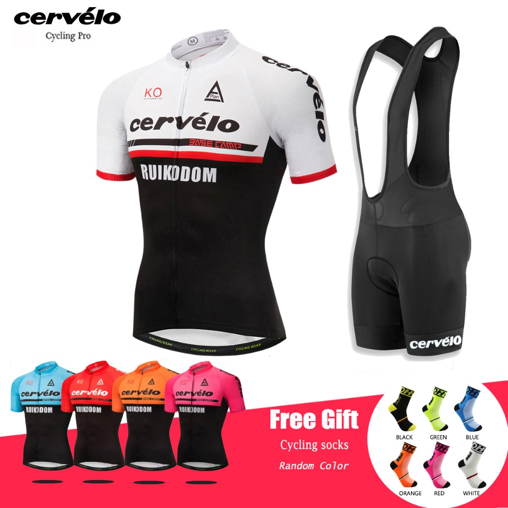 Cervelo 2018 Pro Summer Anti-UV Cycling Clothing Men Bike Clothes Set Breathable Ropa Ciclismo Short Sleeve Cycling Jersey Sets