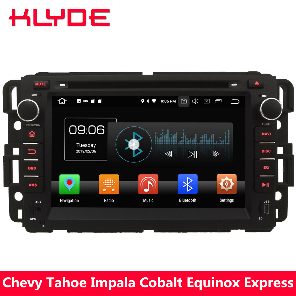 KLYDE 4G Octa Core Android 8.0 4GB RAM 32GB ROM Car DVD Player Stereo Radio For Chevrolet Tahoe Traverse Suburban Avalanche HHR