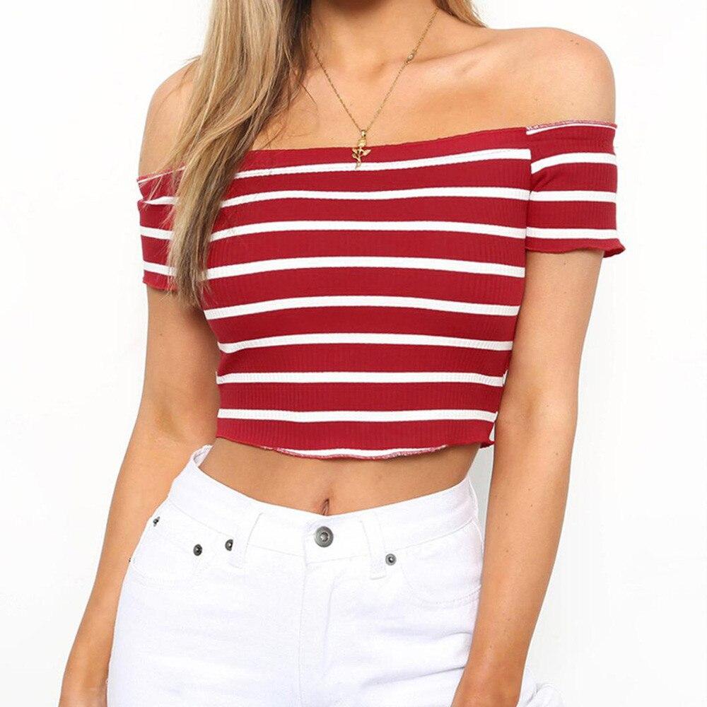 Blouses & Shirts Popular Brand Summer Women Rainbow Sexy Off-shoulder Tube Crop Tops 2018 New Summer Stripe Sleeveless Strapless Bra Blouse Shirts S-l