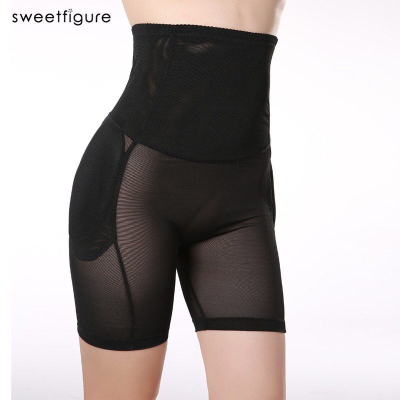 Mulher calcinha acolchoada bunda levantador shapers underwear corpo shaper bunda quadril enhancer sexy shaper cintura alta barriga calcinha