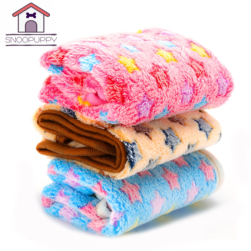 Dog Cat Pet Beds Blankets For Dogs Rest And Sleep Breathable Soft Dogs Bed Mats Mechanical Wash Coral Velvet Dog Blankets YX0005