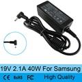 19 В 2.1A 40 Вт ноутбук AC адаптер питания зарядное устройство для Samsung NP305U1A NP530U3B NP535U3C NP535U4C NP540U3C NP900X1B 3.0x1.1 мм