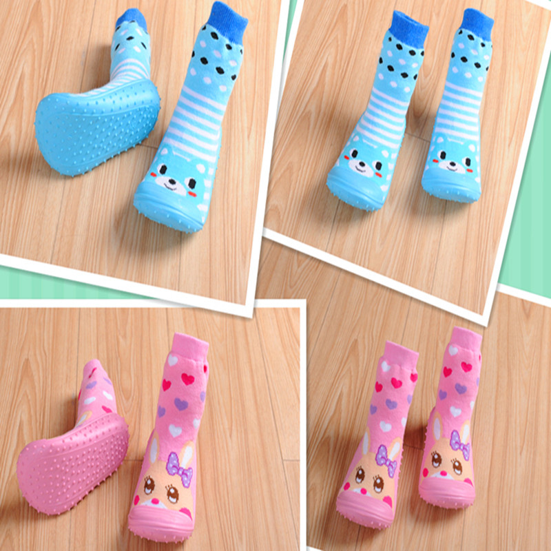 Baby Socks with Rubber Soles Hot sale Anti Slip Baby shoes Newborn Autumn Infant Socks WS404