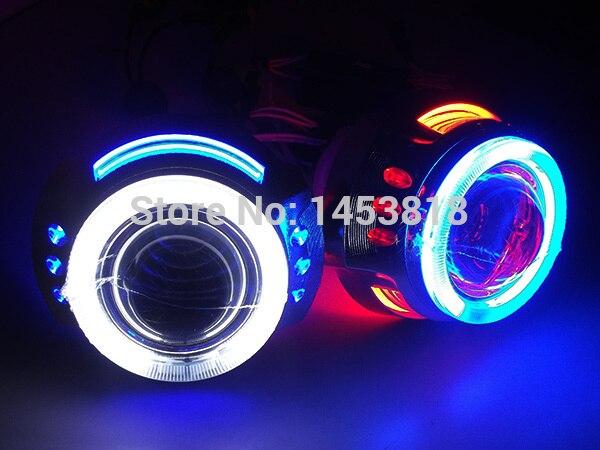 3.0HQL 35 w H1 H7 H4 HB3 HB4 9005 9006 3 ''pouces CACHÉ Bi Lentille de projecteur avec Double Yeux D'ange + 2 pièces Ballast Mince Blocs
