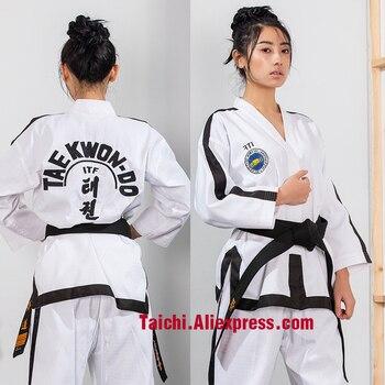 Cárdigan completo de alta gama ITF para adultos, ropa normal de manga larga, doboks, punto completo, Taekwondo