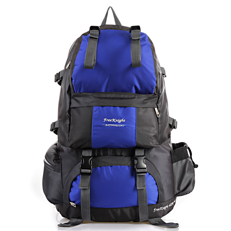 ФОТО 2016 Man Double Shoulder Bag Large Capacity Mountaineering Fashion Nylon Backpack Popular Traveling Backpack
