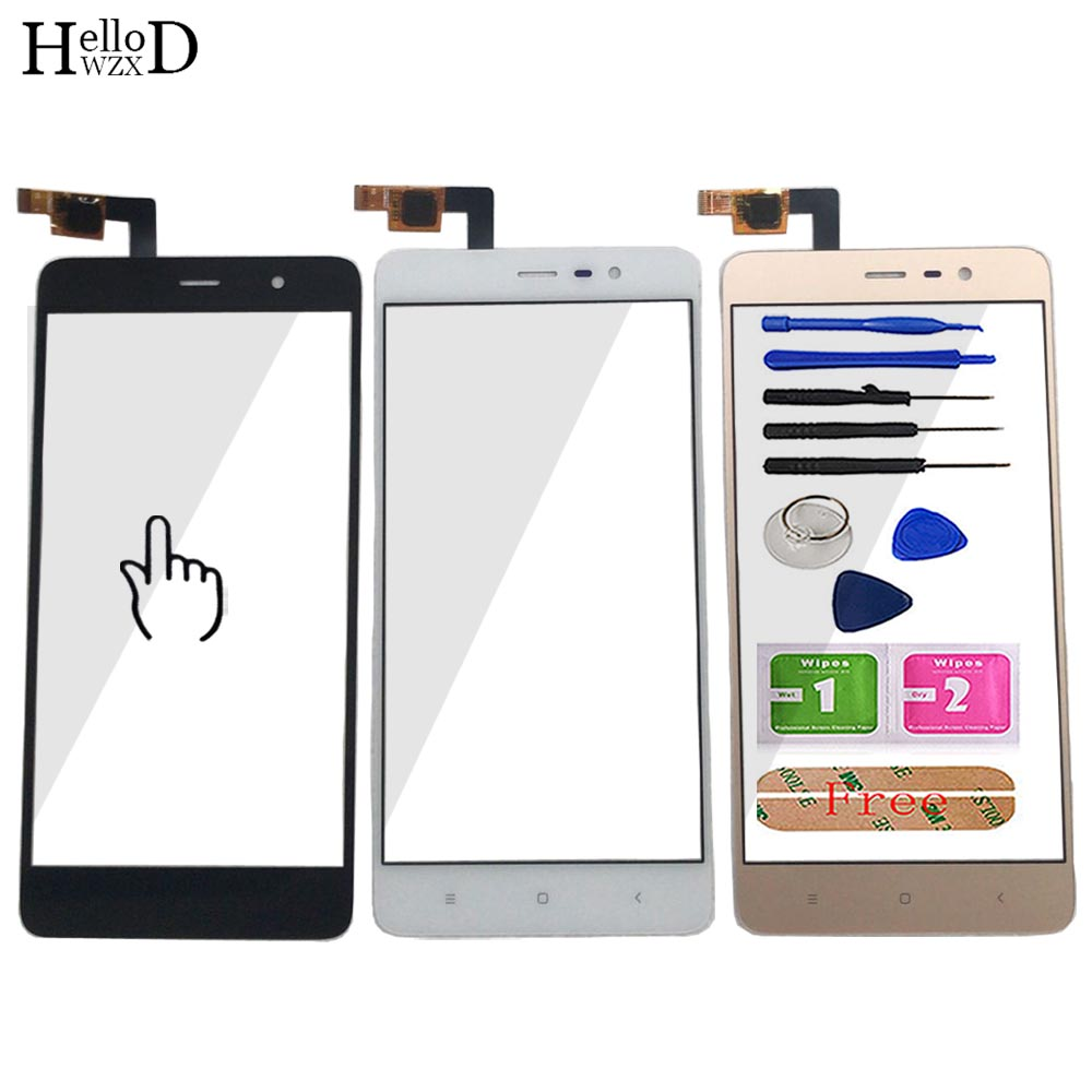 5.5'' Mobile Touch Screen Sensor Front Glass For Xiaomi Redmi Note 3 Pro Touch Screen Touchscreen Digitizer Panel Tools Adhesive