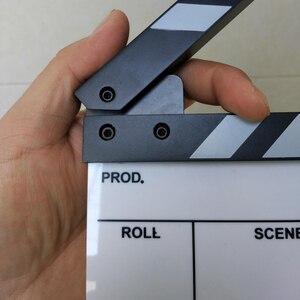 "Image 2 - 스튜디오 카메라 사진 비디오 아크릴 작은 물 막이 판 건조 지우기 감독 영화 영화 클래퍼 보드 슬레이트 (6.3x5.5 ""/16x14 cm)"