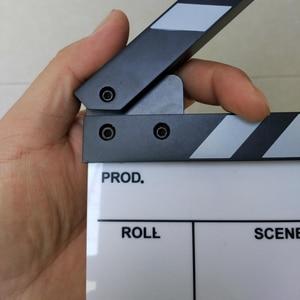 "Image 2 - Studio Camera Photography Video Acrylic Small Clapboard Dry Erase Director Film Movie Clapper Board Slate (6.3x5.5"" /16x14cm)"