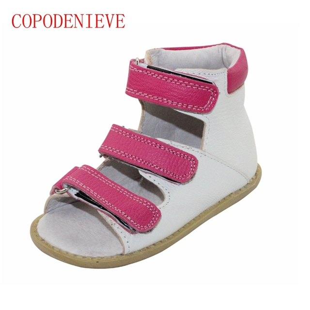 b6e7abc302c301 COPODENIEVE Genuine leather boy Girls Shoes kids Summer Girls Sandals Shoes  Toddlers Infant Children Kids Shoes Arch Support