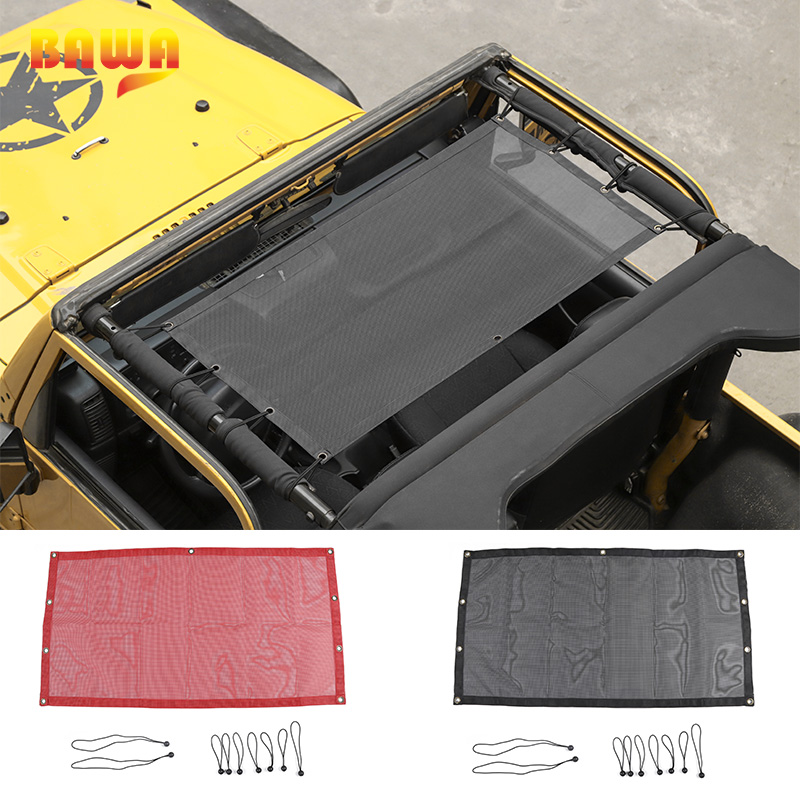 BAWA Car Covers for Jeep Wrangler TJ 1997 2006 PVC Trunk SunShade Roof Protection Net Accessories for Wrangler tj 4 Door-in Car Covers from Automobiles & Motorcycles on AliExpress - 11.11_Double 11_Singles' Day 1