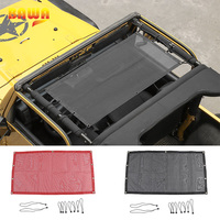 BAWA Car Covers for Jeep Wrangler TJ 1997 2006 PVC Trunk SunShade Roof Protection Net Accessories for Wrangler tj 4 Door