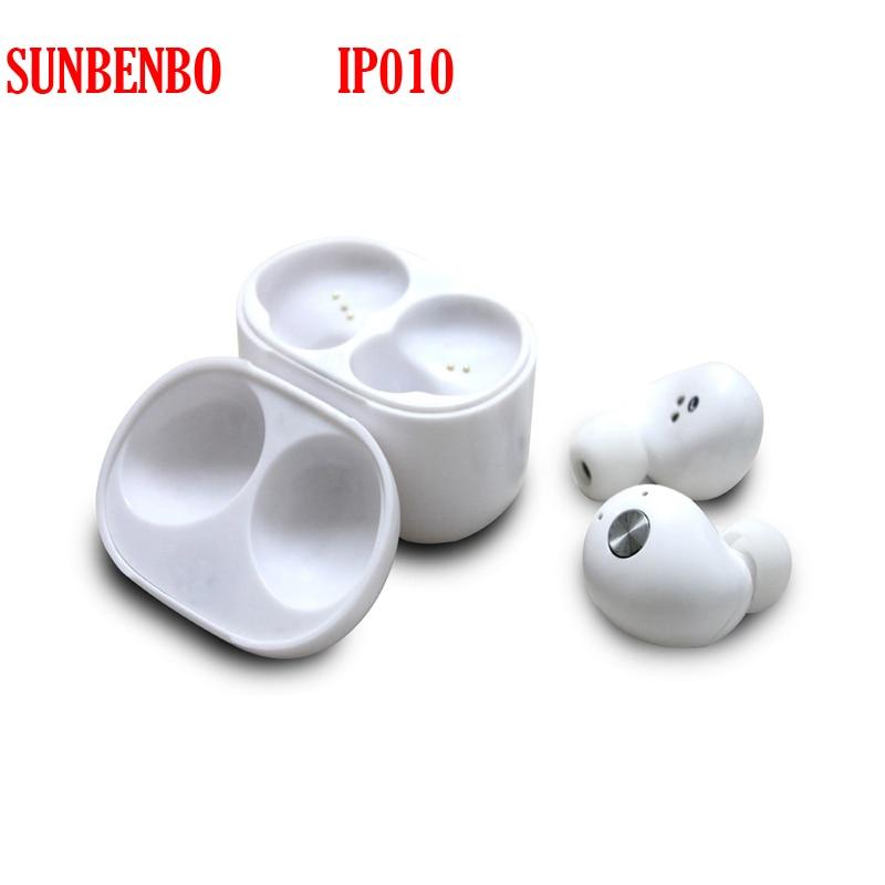 SUNBENBO Original IP010 Twins True Wireless Bluetooth Earphone with Mic In-Ear Mini CRS 4.2 Bluetooth Earbuds with Charging Box leegoal mini twins true wireless stereo bluetooth in ear earphone tws earbuds with mic charging box for iphone7 android phone