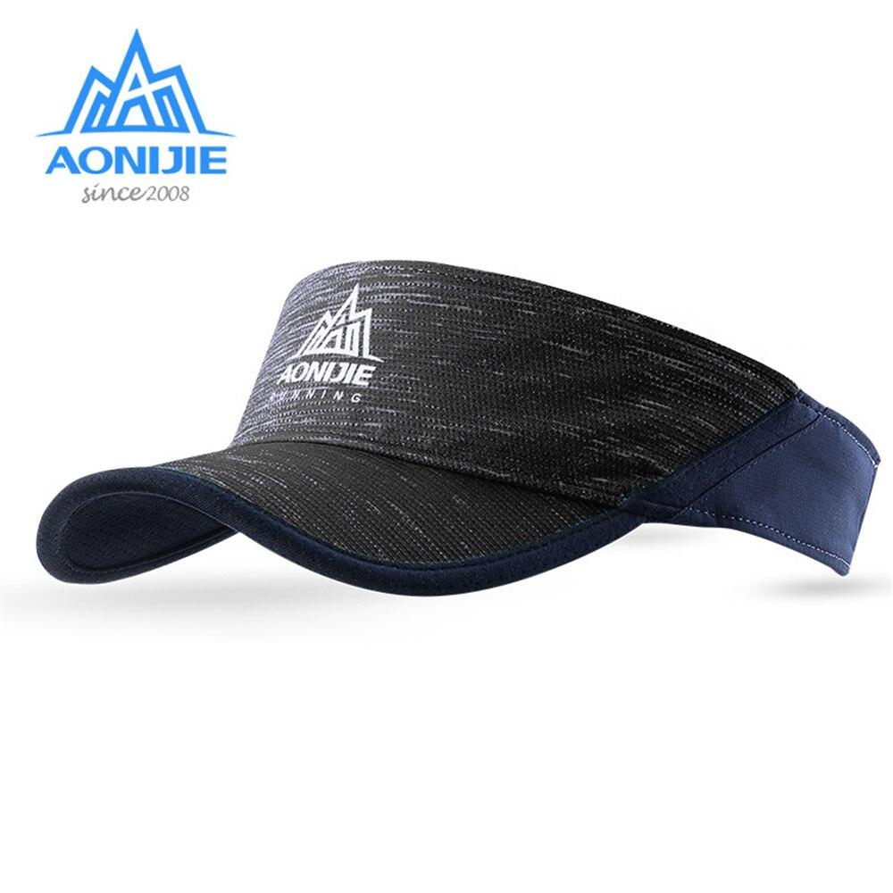 Spor ve Eğlence'ten Koşu Şapkaları'de AONIJIE Yetişkin Ultralight Koşu Kapaklar Açık Spor Unisex Maraton Çalışma Siperliği Hızlı Kuru Kap Golf Tenis Kapaklar 3 renk title=