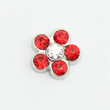 10pcs July birthstone alloy crystal rhinestone flower floating charms fit glass living memory locket
