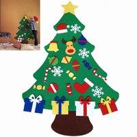 Funny Kids DIY Felt Christmas Tree Set With Ornaments Toddler Door Wall Hanging Xmas Decoration Amazing