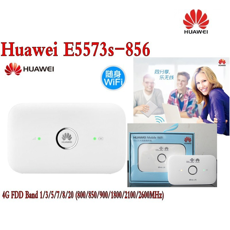 Unlocked Huawei E5573 E5573s-856 CAT4 150Mbps 4G LTE FDD 1800/2100MHz TDD 2500/2600MHz Wireless Router 3G Mobile WiFi Hotspot unlocked huawei e5578 cat4 150mbps 4g lte fdd 1800 2100mhz tdd 2300mhz wireless router 3g wifi mobile hotspot pk b593 e5776