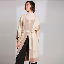 LHZSYY 2019Women's Spring New Wool Long Cardigan Sweater Korean Large Size Autumn Knit Jacket Round Collar Long Sleeve Outer цены онлайн