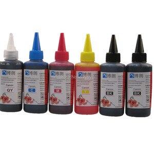 Image 2 - 6 INK For CANON pixma MG7740 TS8040 TS9040 printer PGI 470 CLI 471 refillable ink cartridge + 6 Color Dye Ink 100ml