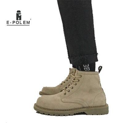 Cuir Chaussures Daim La Bottines khaki Courtes Sauvages Bottes Automne Dans Outillage En De Haute Grand Black Hommes 2018 Chevelu Et D'hiver H29DYIWE