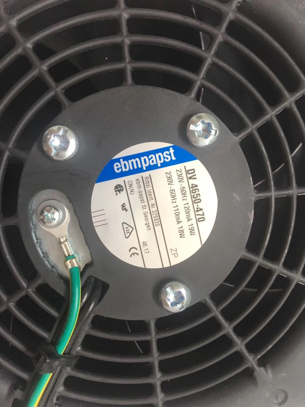 Brand New ebmpapst DV 4650-470 230V-50HZ 110MA 19W Cooling Fan original ebmpapst 1120ntd tc 220 230v 16w 19w cooling fan