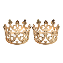 2pcs Baroque Style Mini Tiara Flower Girls Women Prom Rhinestone Crown Hair Ornaments diadem mariage Wedding Jewelry Gift