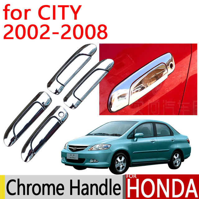 Beau For Honda City 2002   2008 Accessories Chrome Door Handle Luxury No Rust  2003 2004 2005