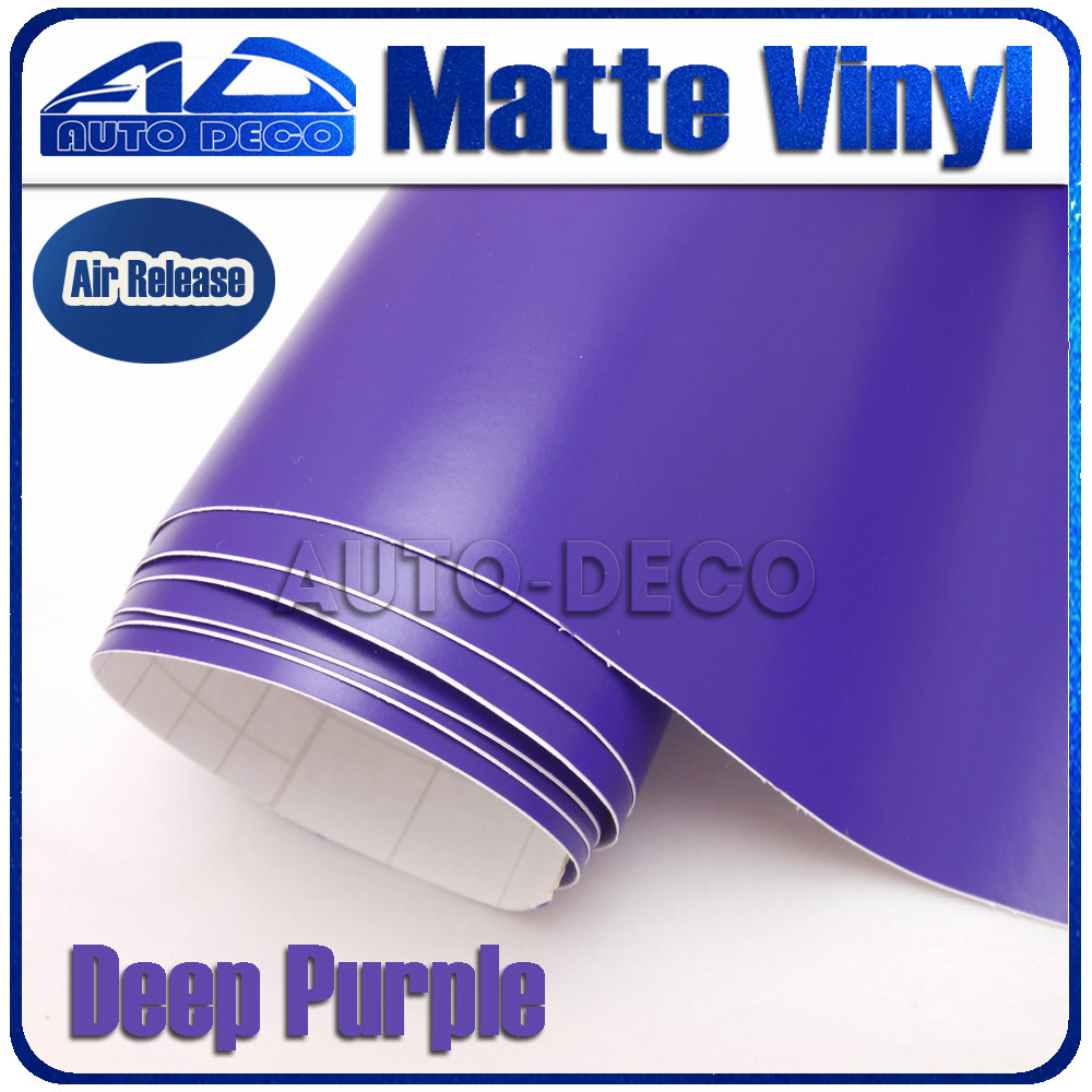 Grace Color Purple Matte Vinyl Car Wrap Film For Car Decoration Sticker With Air Bubble Free 30m/roll FedEx Free Shipping grace for you