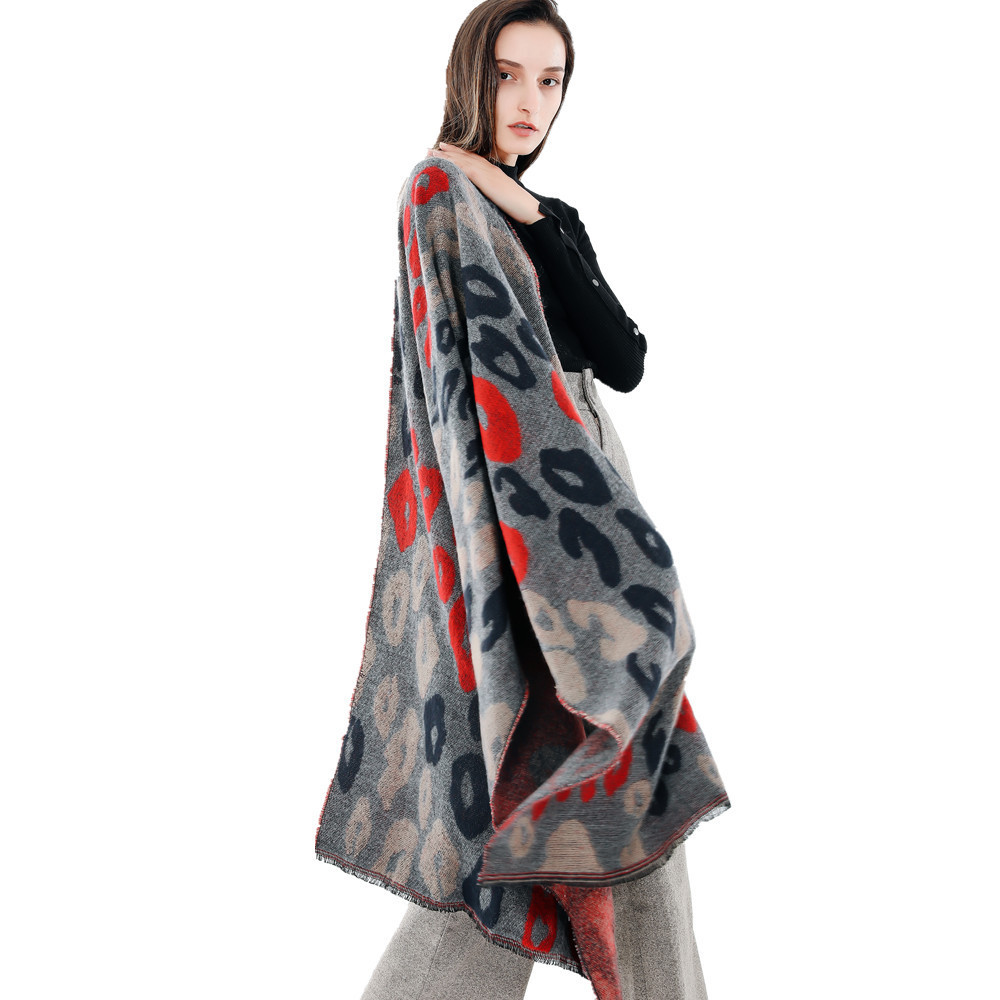 200X66cm Hot Selling  Fashion Style Leopard Camouflage Soft Autumn And Winter Windproof Warm Imitation Cashmere Scarf ZXH-M1813