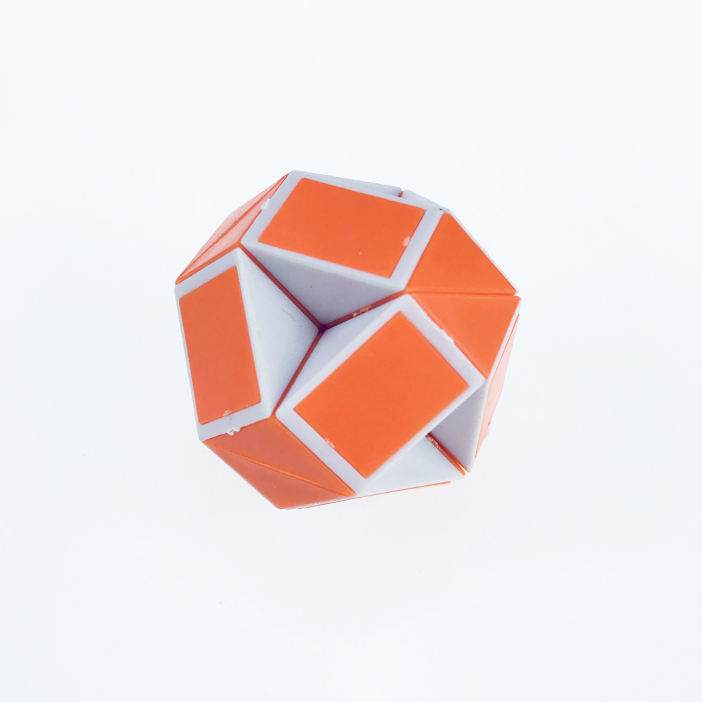 Newest Funny Professional Speed Magic Snake Shape Toys Game Twist Cube Puzzle Toys Gift For Kids 6 Colors