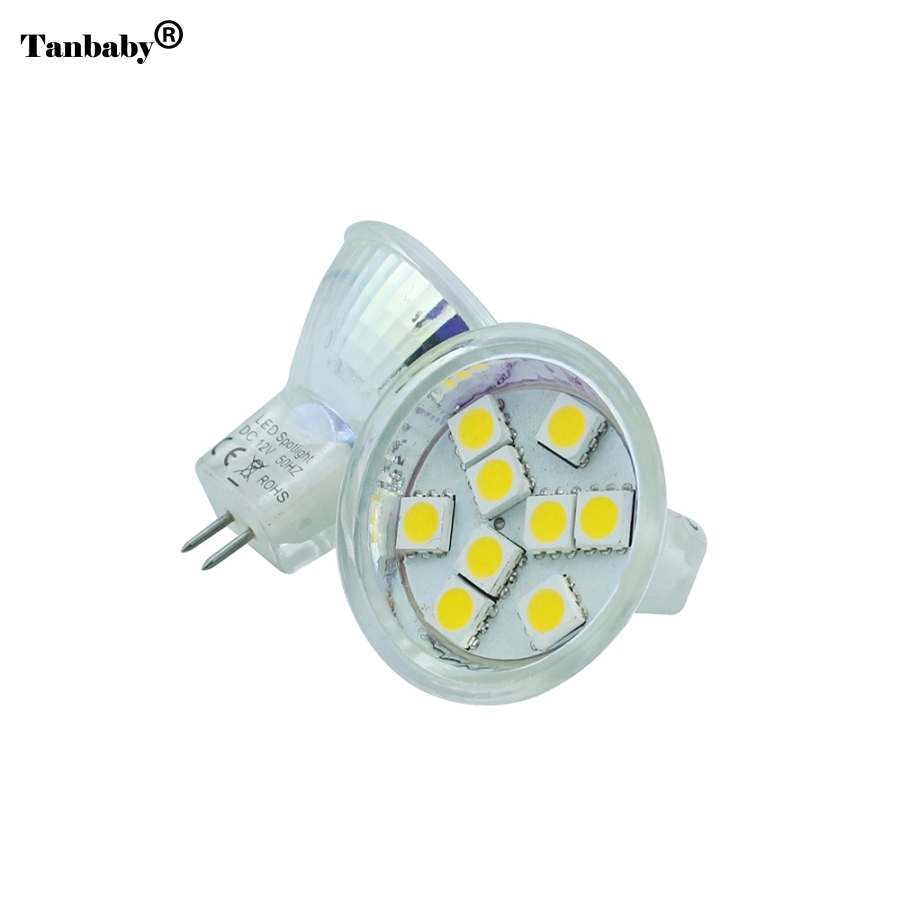 Tanbaby Mini G4 MR11 LED Spotlight Bulb 4W 6W 12V Cup Lamp 9/12leds SMD5050 Warm white/White Replace Halogen 25W Home Lighting